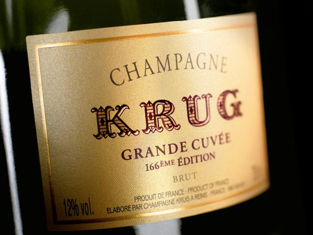Krug Grande Cuvée 166ème Edition - Front Label Close Up