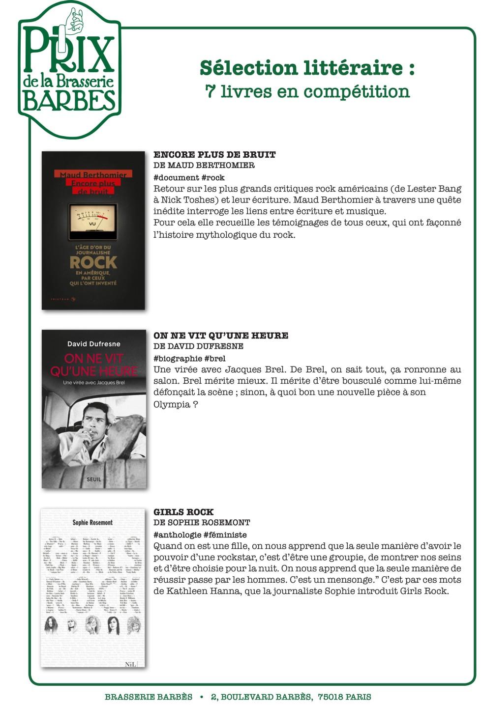Prix Barbès 2019 - sélection des livres-3